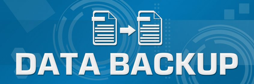 Data Backup Technical Background Horizontal