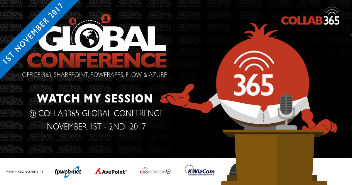Learn all about Reporting in Office 365 and the Collab365 Global Conference